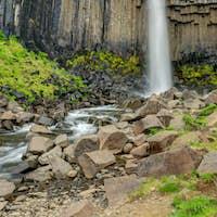 The Svartifoss waterfall in Iceland