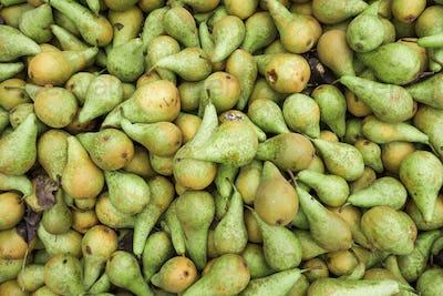 Green pears.  Fresh pears