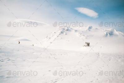 Blizzard approach Red Range Mountains Yukon Canada