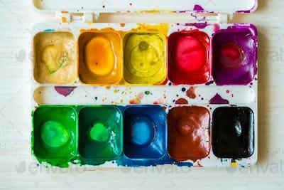 Artist brush and paint