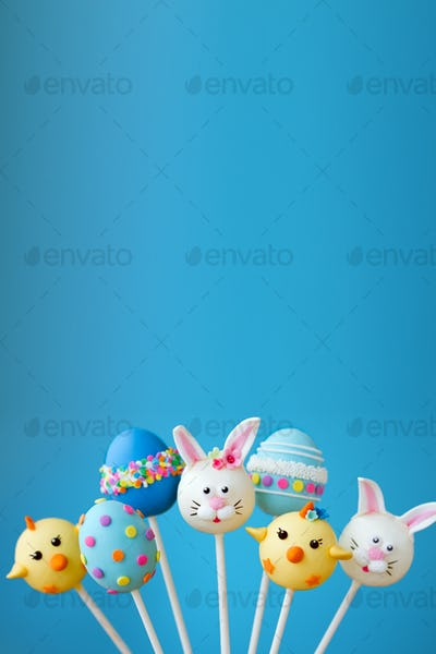 Easter cake pop background