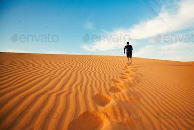 Lonely in desert
