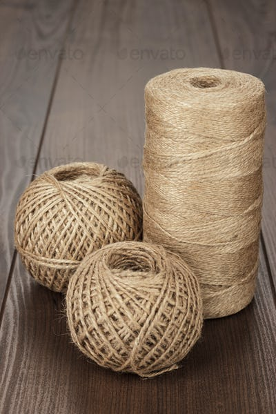 Reel And Balls Of Durable Thread