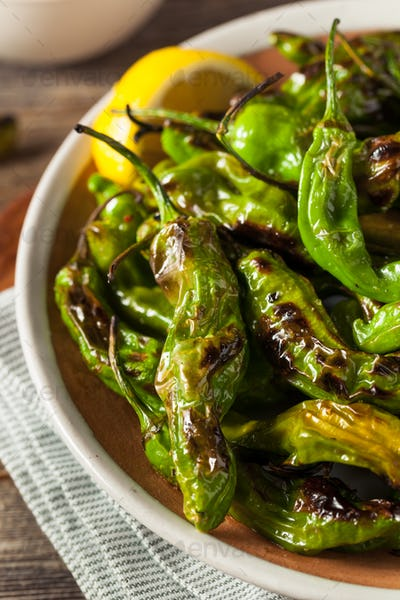 Roasted Spicy Shishito Peppers
