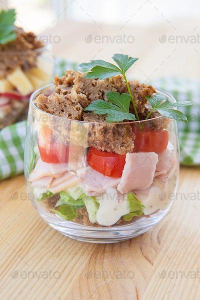 Sandwich in a glass