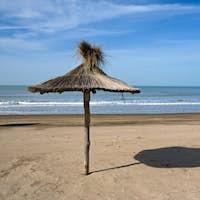 Deserted beach in Argentina