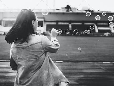 Break Explore Female Fun Journey Joy Recreation Concept