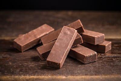Homemade chocolate sticks