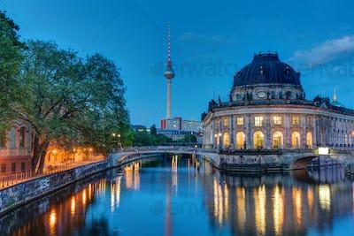 The Bodemuseum in Berlin at dawn