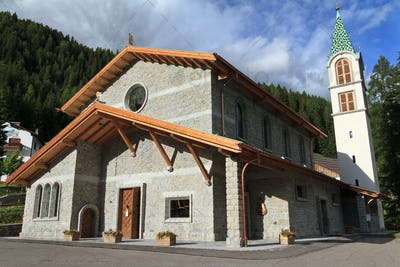church in Canazei, Italy