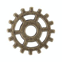 Small gear on a white background