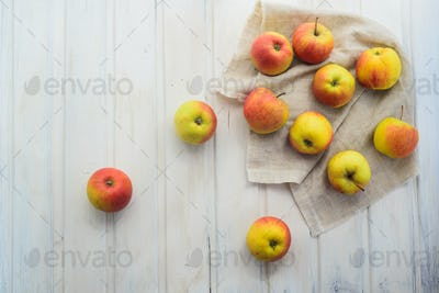 apples on a white