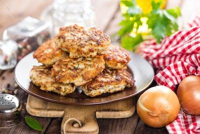 fried meat cutlets