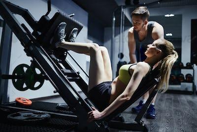 Training on sports equipment
