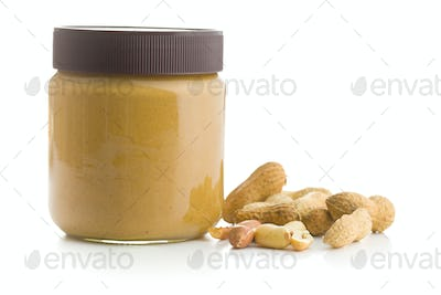 Creamy peanut butter and peanuts.