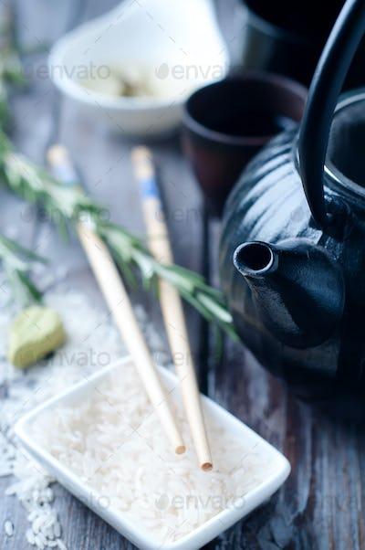 Chinese black teapot