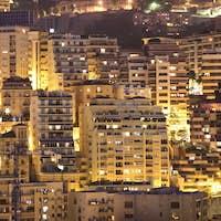 Night view of Monaco