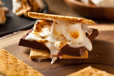 Homemade Gooey Marshmallow S'mores