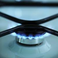 Gas stove flames