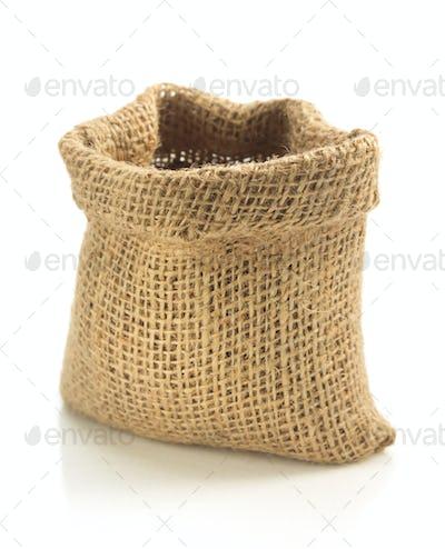 empty sack bag isolated on white
