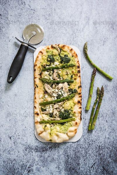 Woodfire baked artisan pizza