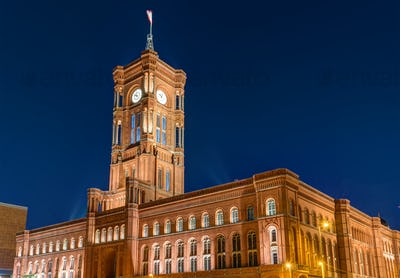 The townhall of Berlin at night