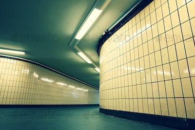 Underground passage from subway