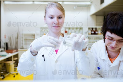 female researchers carrying out research together in a chemistry
