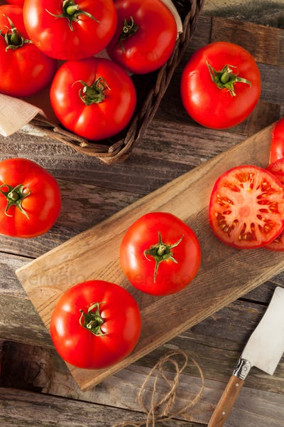 Raw Organic Red Beefsteak Tomatoes