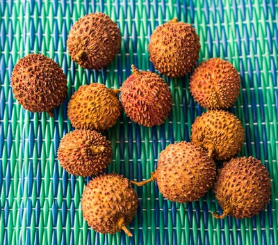 Fresh lychee, Fruits, diet, healthy food concept.