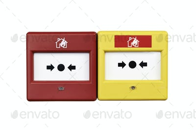 Close up of a fire alarm system from front