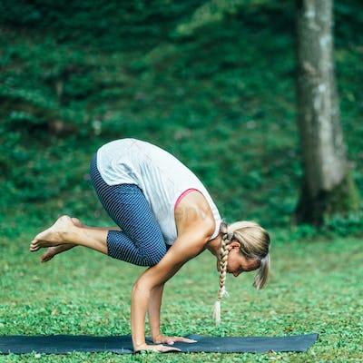Yoga Crow Position or Bakasana