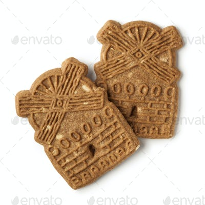 Traditional dutch speculaas cookies