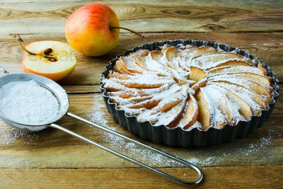 Apple pie and caster sugar