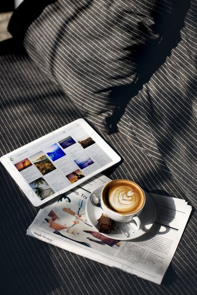 Coffee Relaxation Beverage Planning Data Digital Concept