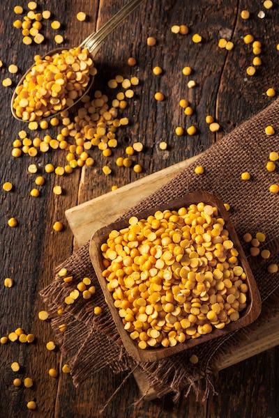 Raw Organic Yellow Split Peas