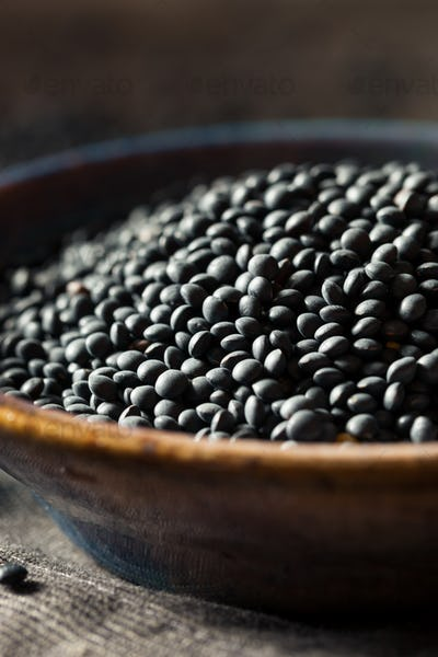 Raw Organic Black Lentils