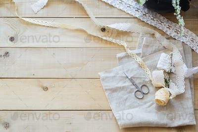 lace ribbon to decor