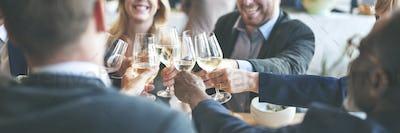 Business People Toast Success Achievement Colleagues Corporate C
