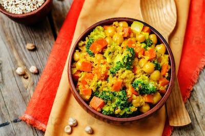 Quinoa broccoli carrot curry
