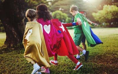 Fun Summer Childhood Superhero Concept