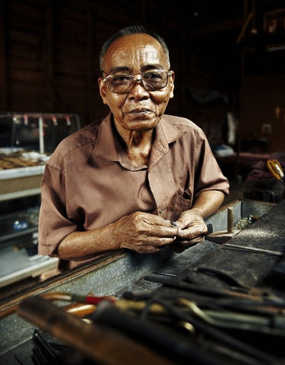 Asian Portrait Cambodian Smiley Face Concept