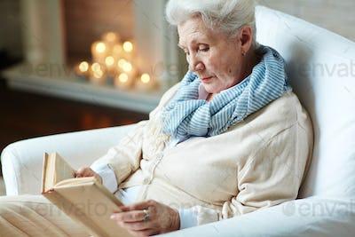 Pensioner reading