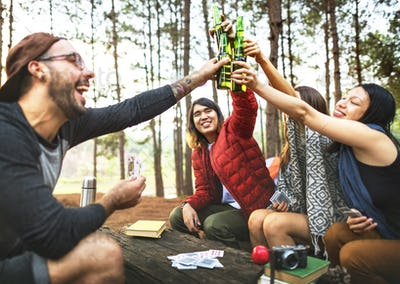Friendship Hanging Drinks Cheers Together Concept