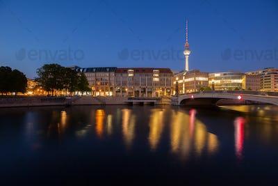 Berlin River Spree and TV Tower (Fernsehturm)