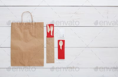 Copyspace at white wooden background for menu or recipe
