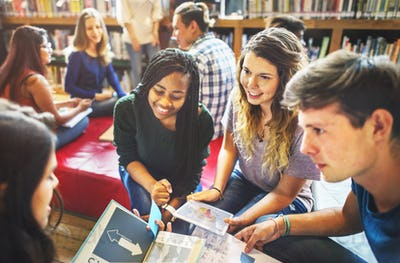 Library School Knowledge Education Friendship Concept