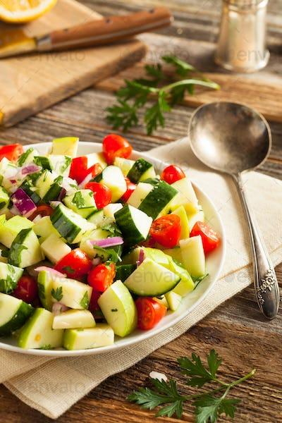 Healthy Organic Cucumber Salad