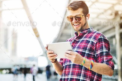 Browsing Casual Connection Internet Technology Concept