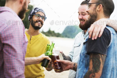 Celebration Cheers Drinking Together Friends Concept
